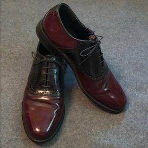 Dexter Oxblood and Black Saddle Shoes Size 10 M